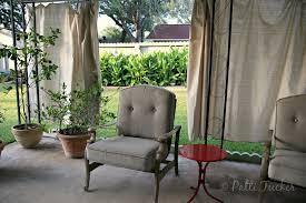 diy outdoor patio drop cloth curtains canvas patio curtains
