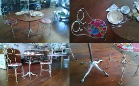 fort bragg bistro table and ice cream chairs