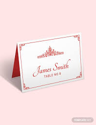Template For Place Cards Free 11 Free Place Card Templates Download Ready Made Template Net