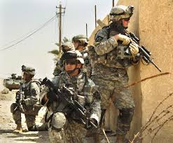 U.S. Army soldiers from the 2nd Infantry Division patrol the.