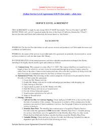 Service Agreement Samples It Service Level Agreement Example 114840 10 Best Of It