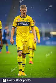Andreas Cornelius von Parma Calcio während des Spiels der Serie A 2020/21  zwischen FC Internazionale und Parma Calcio im San Siro Stadium, Mailand,  Italien o C Stockfotografie - Alamy
