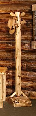 coat racks rustic furniture mall by timber creek inside log ideas 3