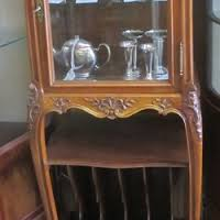 g6121 french louis style vitrine display cabinet and magazine rack 1 glass shelf 49 x 37 x 140cm high asian style furniture korean antique style 49