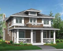 22 Stunning Narrow Lot Craftsman Style House Plans