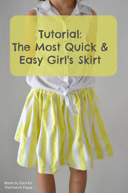 Simple Skirt Pattern Interesting Quick And Easy Girl Skirt