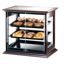pastry case display cal mil s dark wooden frame 3 tray self dessert display cases refrigerated