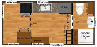 tiny house floor plans. Tiny House Plans For An 8x18 Lexington Floor A