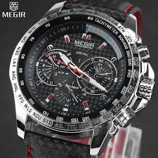 aliexpress com buy megir famous brand men watches top brand megir famous brand men watches top brand luxury business quartz watch clock leather strap male