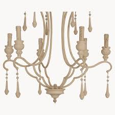 more views brockton antique white iron and wood chandelier