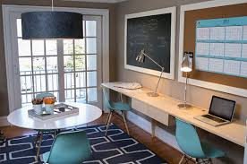 creative home office spaces. perfect home familyhomeofficewithretrostylechairs on creative home office spaces t