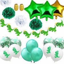 <b>ZLJQ</b> Dinosaur Party Theme Supplies Latex Balloon Inflatable Balls ...