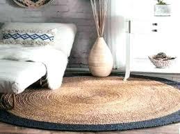 jute rug natural fiber braided reversible border round nuloom grey