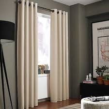 kenneth cole reaction home gotham texture 84 inch lined grommet window curtain
