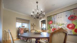 Lighting Ideas For Dining Room Dining Room With Ornate Chandelier And Ceiling Wallpaper By Artist Walter Knabe Lighting Ideas For