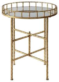 22 high accent table elegant textured gold tall round tray top bar cocktail metal home design 28 high accent table