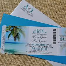 Custom Design Fee Boarding Pass Invitation Or Save The Date