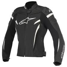 alpinestars stella gp plus r v2 womens leather jacket black white