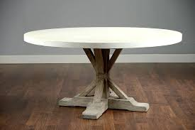 concrete table top round concrete and elm dining table me gardens top how to make concrete