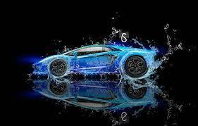 Wallpaper Water, Black, Lamborghini ...