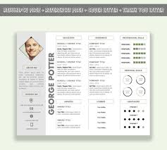 Microsoft Word Horizontal Resume Template / CV Template Pack ( Cover Letter  + Thank You Letter + References Page)