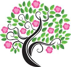 Template Tree Blossom Vector Tree Template
