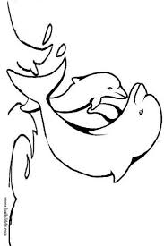 Small Picture Baby dolphin coloring page Nice coloring sheet of sea world More