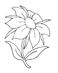 Simple Flower Coloring Pages Free Printable Simple Flower Coloring