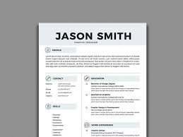 Free Resume Templates In Illustrator Ai Format Creativebooster