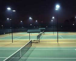 tennis court flood lights photos