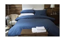 belledorm plain dye 540 tc egyptian quality cotton duvet cover set navy blue double