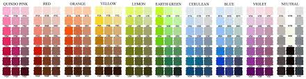 The Colour Charts Are Available Only On Screen They Cannot
