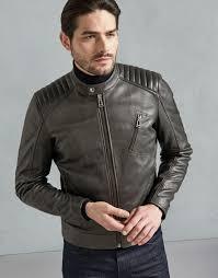 men s pewter v racer leather jacket men s luxury jackets coats belstaff