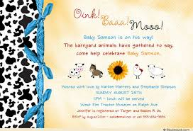 moo invitations baby boy shower invitation moo barnyard animals theme blue