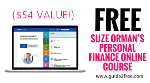 Free Suze Ormans Personal Finance Online Course 54 Value