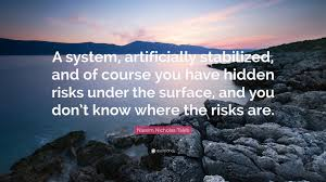 "Risk Quotes Simple Nassim Nicholas Taleb Quote ""A System Artificially Stabilized And"