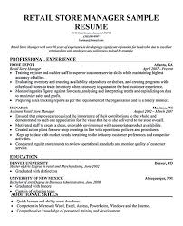 Retail Manager Resume Template Amazing Basic Retail Manager Resume Online Editor Resume Template