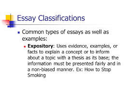 in class writing what is your expository essay topic look over  4 essay classifications