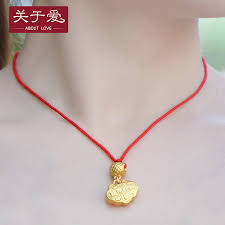 get ations about love gold pendant foot jinfu paing baby lock longevity lock lock necklace pendant necklace to