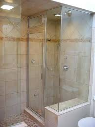 showers without glass awesome design ideas for walk in showers without doors enclosed shower stall walk