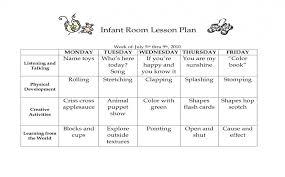 Speech Pathology Lesson Plan Template Elegant Infant Room Lesson ...