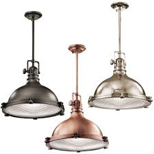 interior fresh kichler lamps lighting everly brushed nickel pendant light with urn shade from kichler