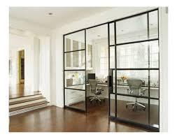glass doors with black trim
