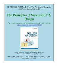Killer Ux Design Pdf Name