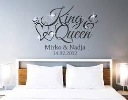 Tjapalo Pkm462 Wandtattoo King Queen Wandtattoo Schlafzimmer Liebe