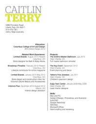 good resume cover letter interior designer