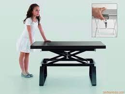 adjustable height coffee table