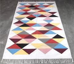 flat weave cotton rug design no ncd 005 material used cotton colour multi