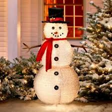 49\u0027 Fluffy Snowman Outdoor Christmas Decoration | The most wonderful time of the year| Pinterest christmas decorations, decorations