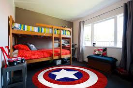 captain america round rug in child s room